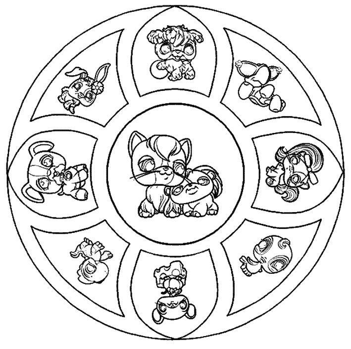 Coloriage Mandala Petshop A Imprimer Gratuit pour Coloriage Vaiana A Imprimer Gratuit