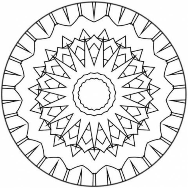 Coloriage Mandala Pour Enfant Facile Dessin Gratuit À Imprimer encequiconcerne Mandala Facile A Dessiner