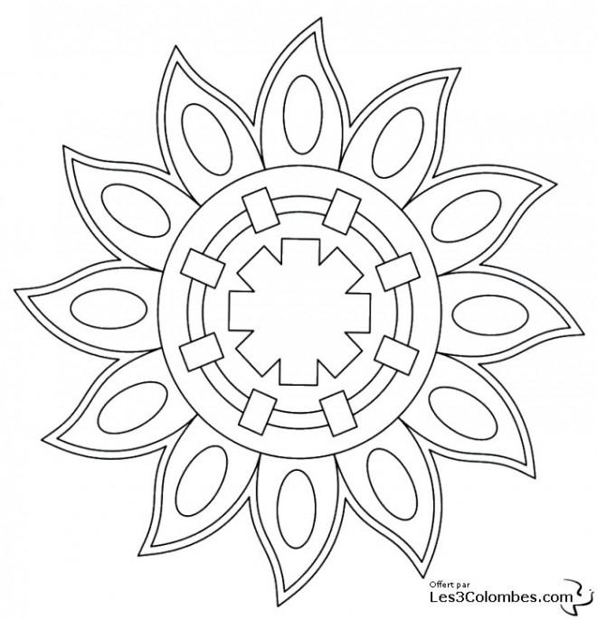 Coloriage Mandala Soleil Pour Adulte Dessin Gratuit À Imprimer serapportantà Mandala À Colorier En Ligne