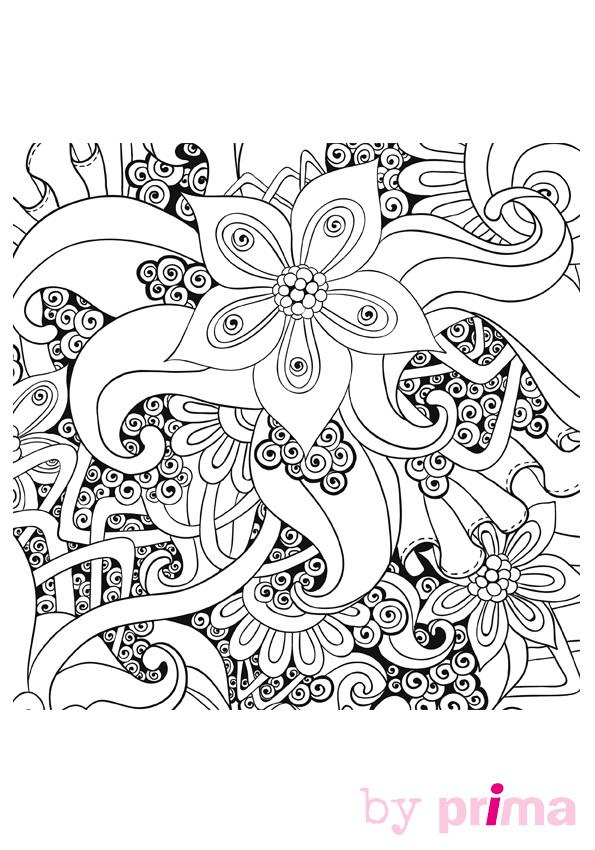 Coloriage Mandalas Fleurs Anti-Stress Dessin Gratuit À serapportantà Coloriage Cactus A Imprimer Gratuit