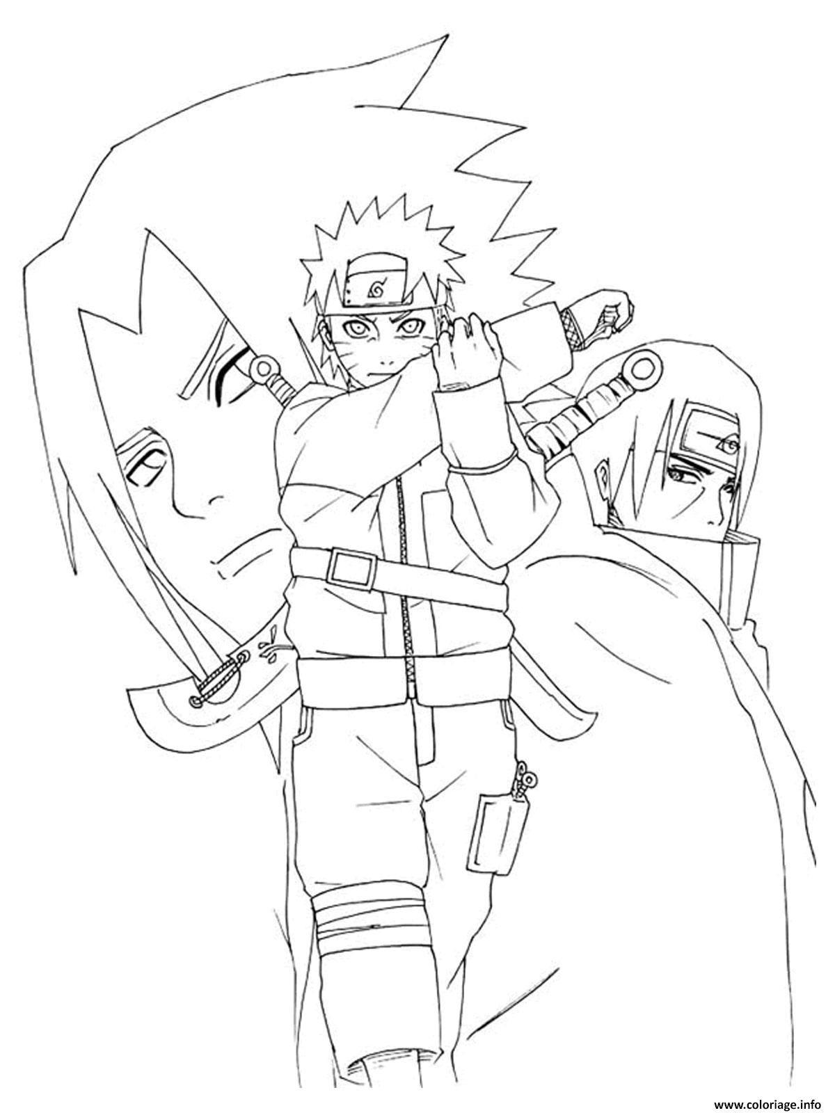 Coloriage Manga Naruto 76 Dessin À Imprimer (Avec Images pour Dessin A Imprimer De Naruto