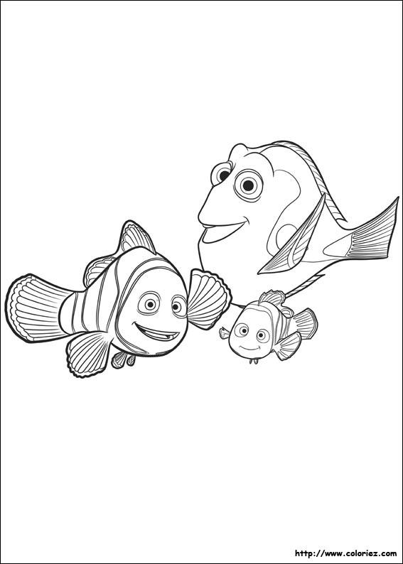 Coloriage - Marin Nemo Et Dory à Coloriage Finding Dory