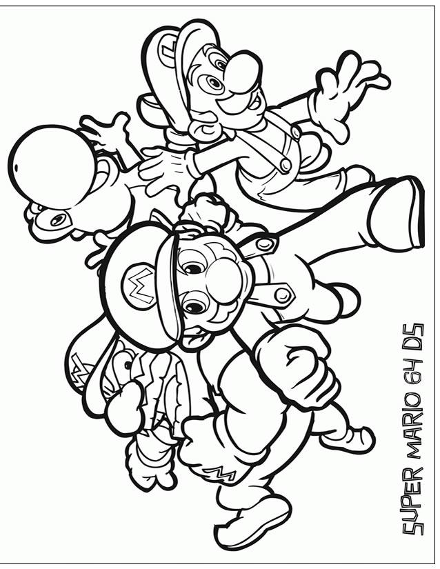 Coloriage Mario À Imprimer Gratuitement pour Coloriages A Imprimer