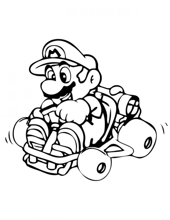 Coloriage Mario Kart En Couleur Dessin Gratuit À Imprimer serapportantà Coloriage Mario Kart