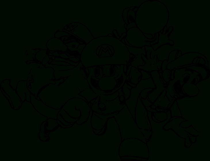 Coloriage Mario, Luigi, Yoshi, Wario À Imprimer Et Colorier concernant Dessin De Yoshi