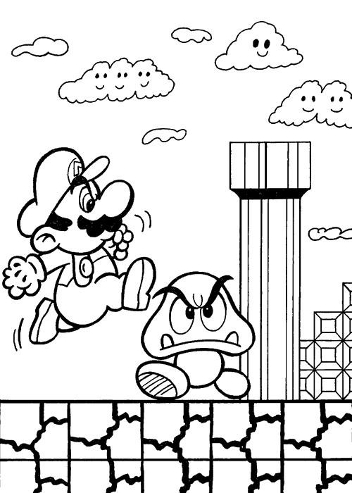 Coloriage Mario Personnage Champignon Dessin Gratuit À à Dessin De Champignons A Imprimer