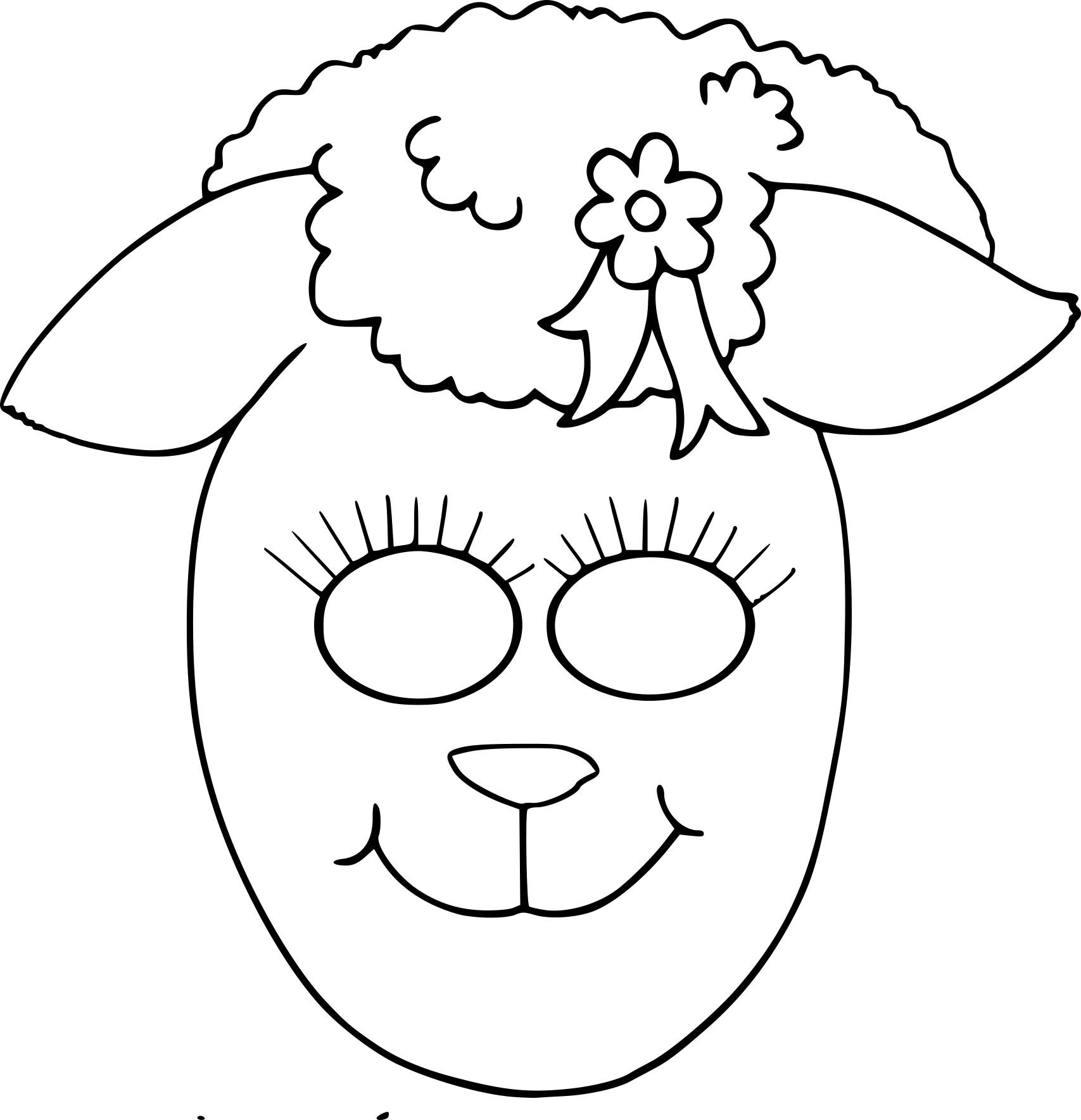 Coloriage Masque Brebis À Imprimer Sur Coloriages destiné Dessin De Brebis