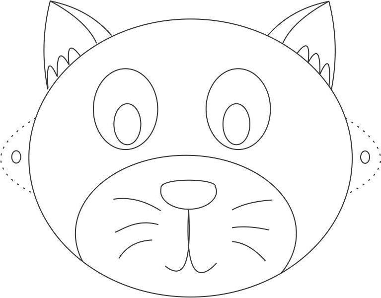Coloriage Masque Chat Imprimer - 1001 Animaux pour Masque D Animaux À Colorier