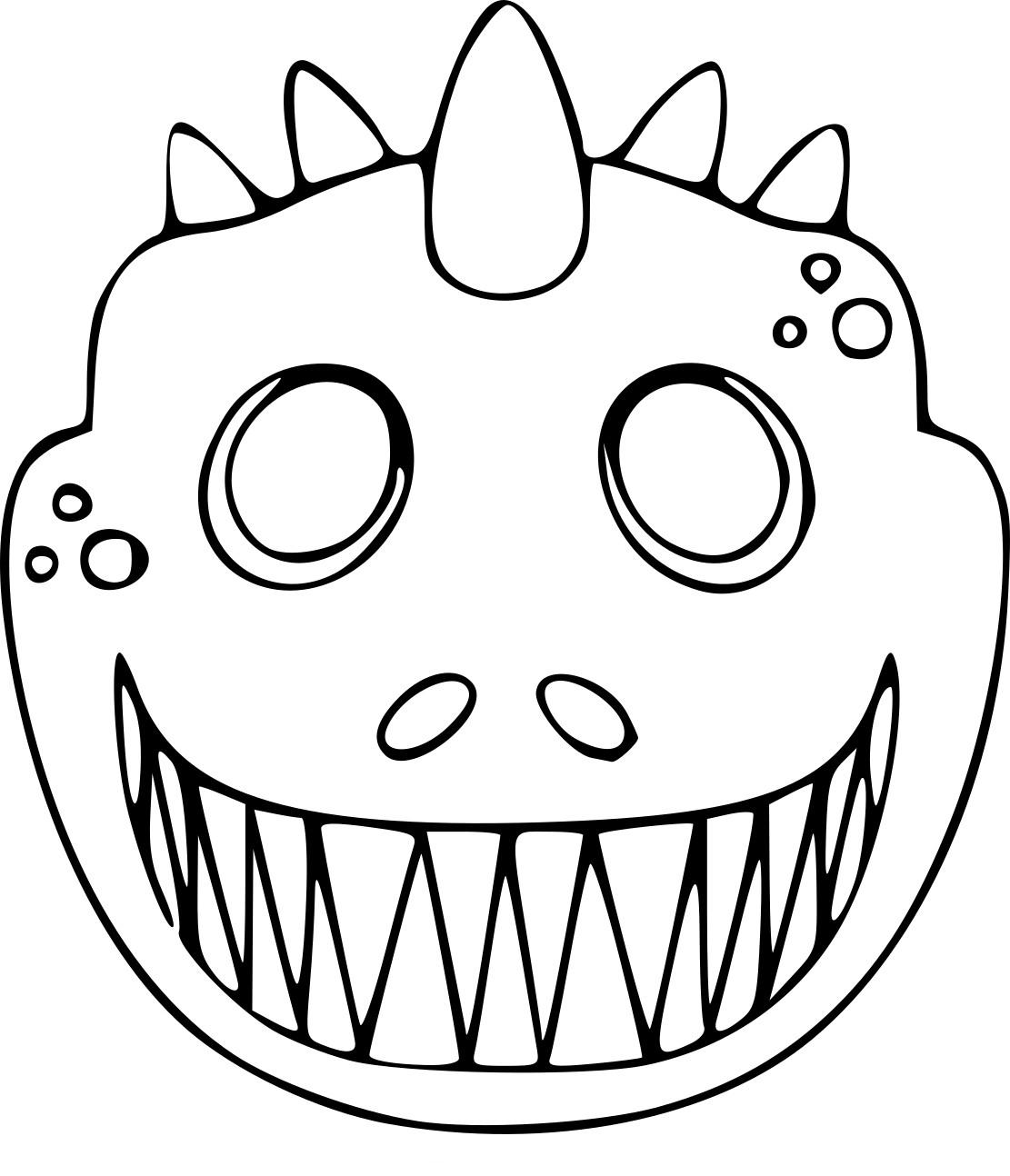 Coloriage Masque Dinosaure À Imprimer Sur Coloriages à Masque À Colorier Gratuit