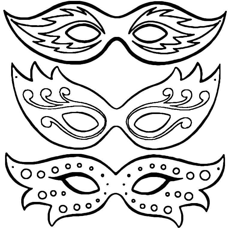 Coloriage Masques De Carnaval A Imprimer Gratuit à Masque Enfant A Imprimer