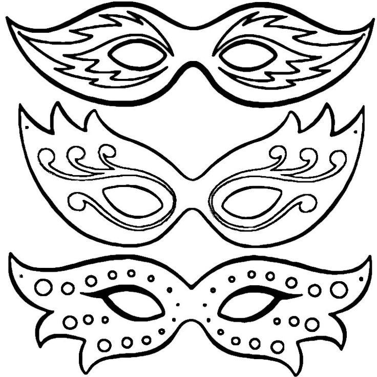 Coloriage Masques De Carnaval A Imprimer Gratuit tout Dessin Carnaval A Imprimer