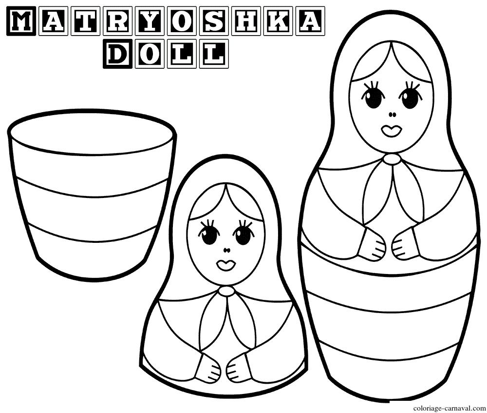 Coloriage Matryoshka Dolls 6 Poupee Russe Dessin Gratuit pour Coloriage Poupée Russe