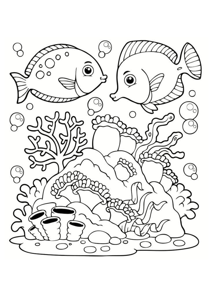 Coloriage Mer : Des Dessins À Imprimer | Coloriage Mer destiné Dessins Enfants A Colorier