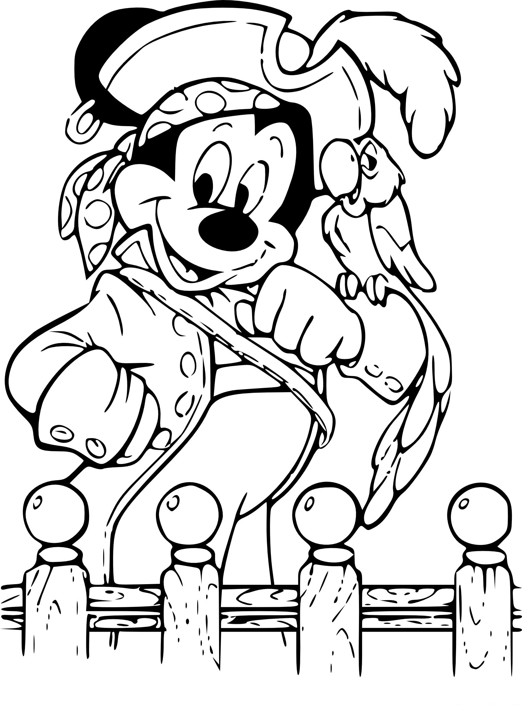 Coloriage Mickey Pirate À Imprimer avec Coloriage Mickey