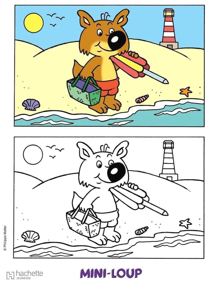 Coloriage Mini Loup A Imprimer Gratuit - GreatestColoringBook.com