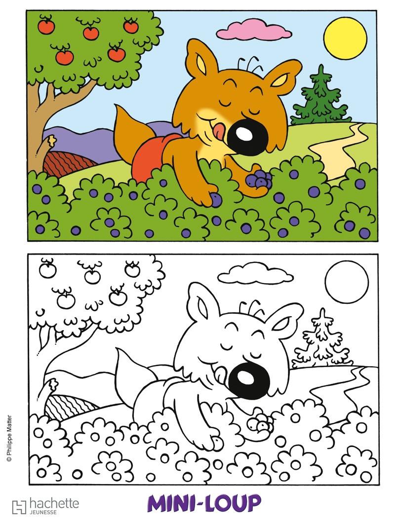Coloriage Mini Loup Gratuit Coloriages Mini Loup À dedans Coloriage Mini Loup A Imprimer Gratuit