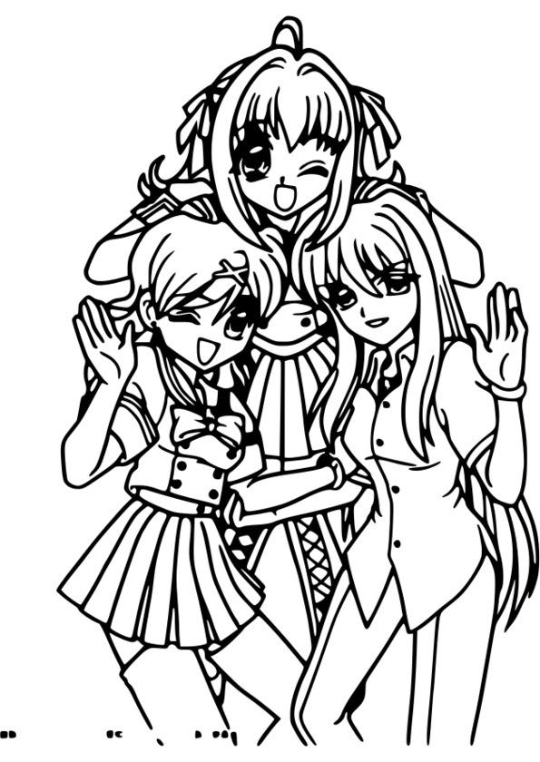 Coloriage Mini Manga concernant Coloriage Manga