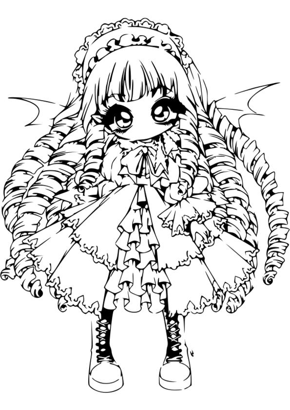 Coloriage Mini Manga pour Dessin Manga A Imprimer