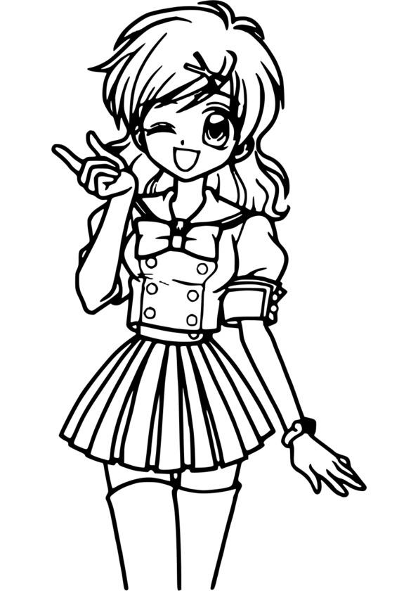 Coloriage Mini Manga pour Manga Dessin A Imprimer