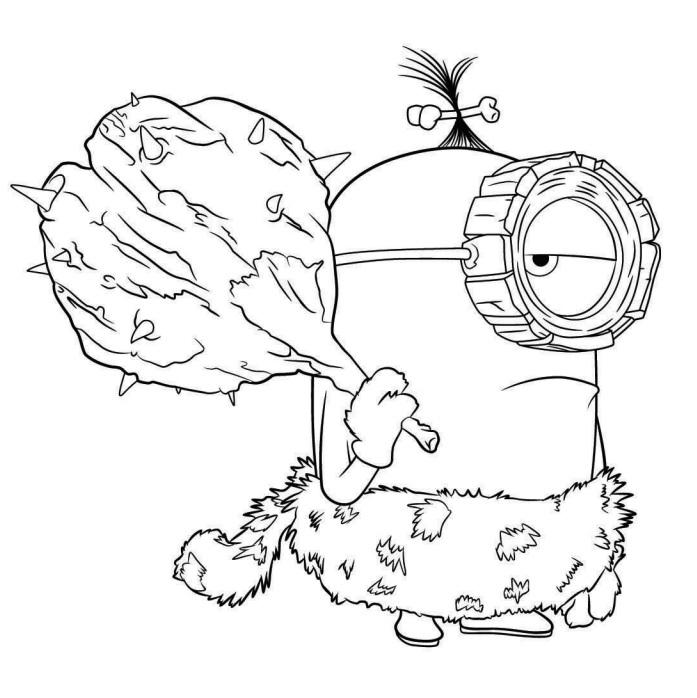 Coloriage Minions À Imprimer (Moi, Moche Et Méchant) intérieur Coloriage A Imprimer Minion Gratuit