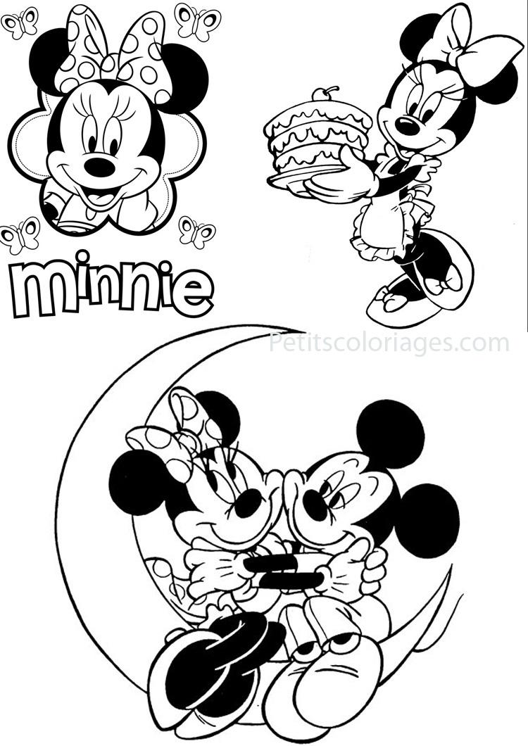 Coloriage Minnie À Imprimer Pour Les Enfants - Cp18114 serapportantà Minnie A Colorier