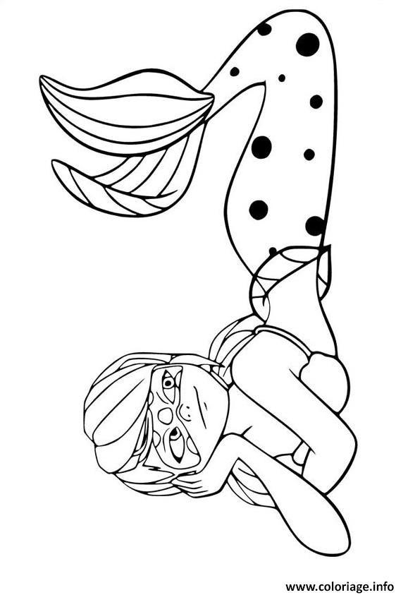 Coloriage Miraculous Ladybug La Sirene À Imprimer serapportantà Coloriage Lady Bug