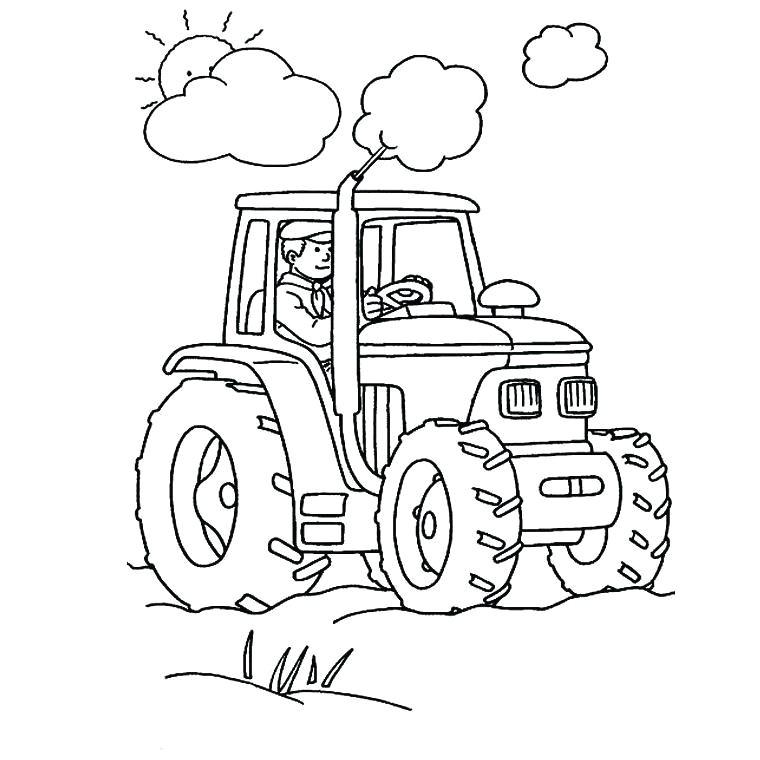 Coloriage Moissonneuse Tracteur Tom Coloriage Tracteur A concernant Dessin Tracteur Tom