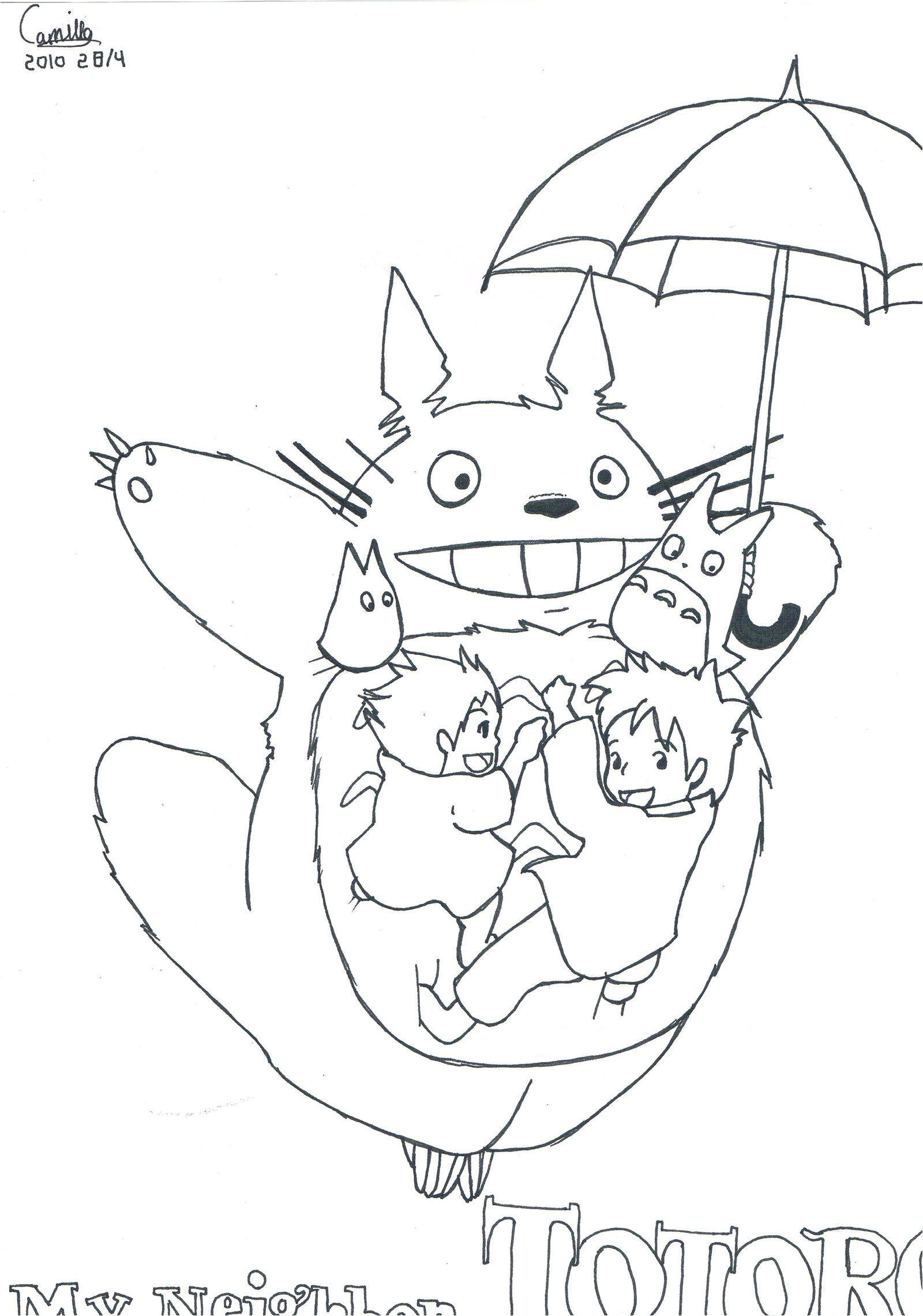 Coloriage Mon Voisin Totoro | Danieguto destiné Coloriage Totoro A Imprimer