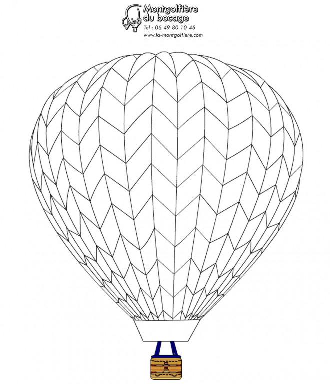 Coloriage Montgolfière En Bois Dessin Gratuit À Imprimer pour Dessin De Montgolfière
