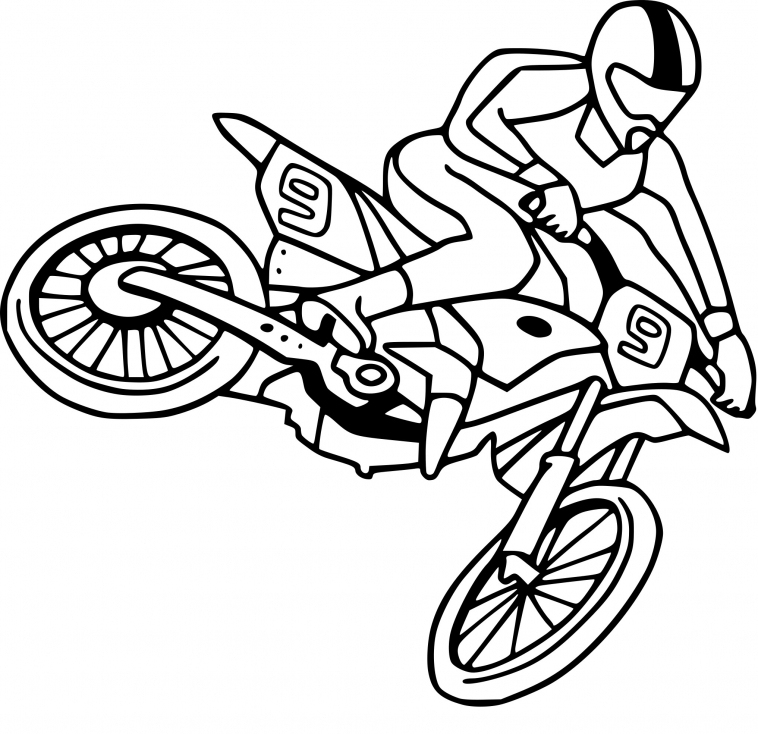 Coloriage Moto Cross Dessin À Imprimer Sur Coloriages encequiconcerne Coloriage Moto Cross A Imprimer Gratuit