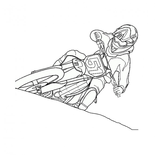 Coloriage Moto Cross Dessin Gratuit À Imprimer dedans Coloriage Moto Cross À Imprimer