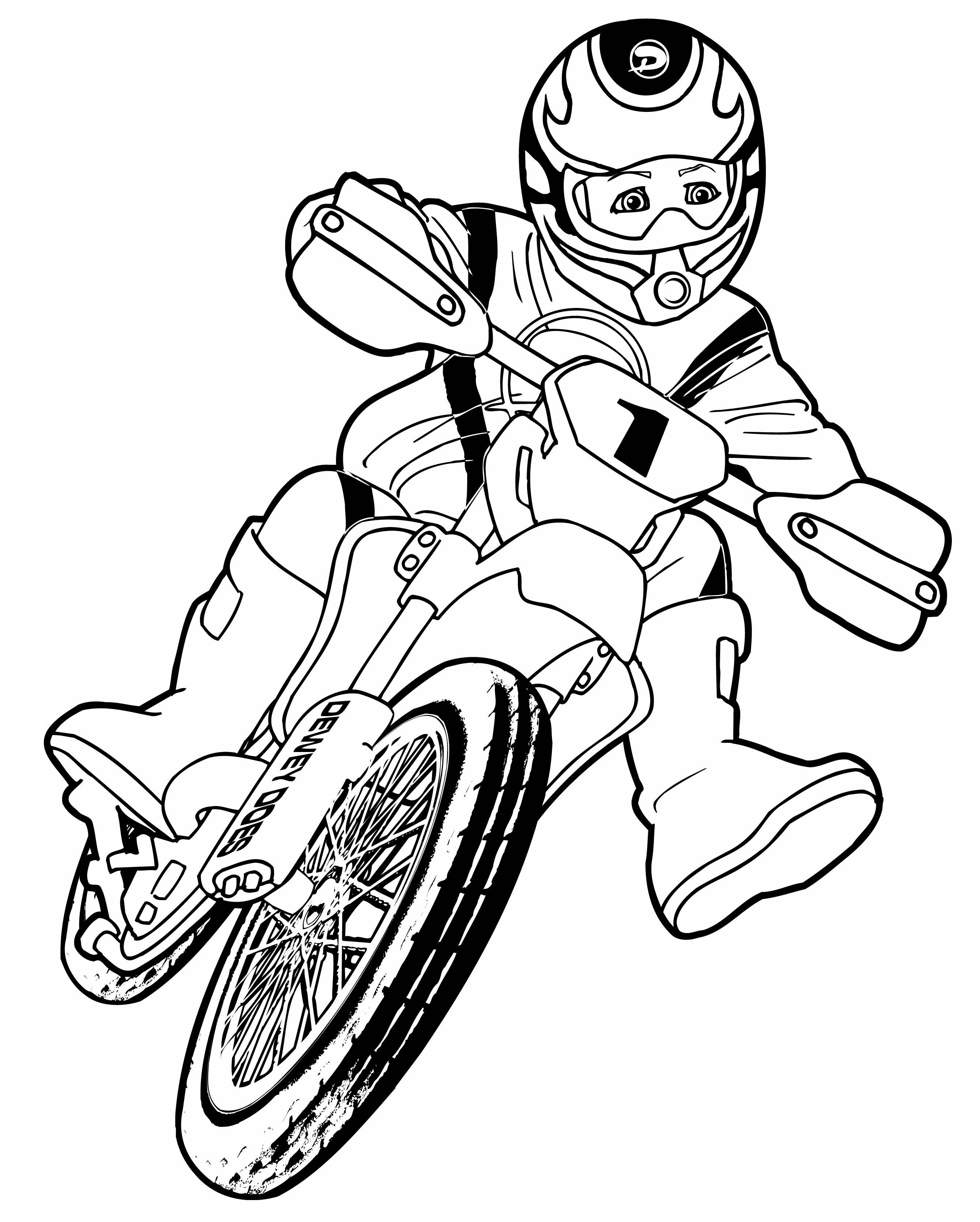 Coloriage Moto Cross Motocross À Imprimer avec Dessin De Moto Ktm