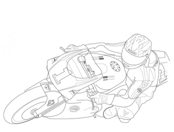 Coloriage Moto De Course En Couleur Dessin Gratuit À Imprimer encequiconcerne Coloriage Moto De Course A Imprimer Gratuit