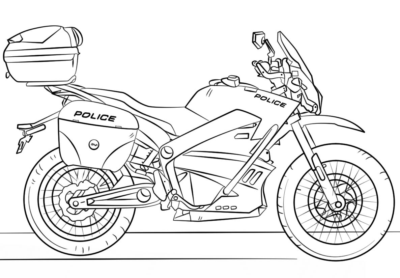 Coloriage Moto De Police Dessin Gratuit À Imprimer destiné Coloriage Voiture De Police