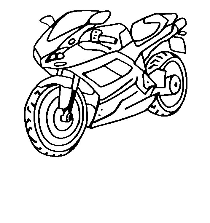 Coloriage Moto - Dessins & Coloriages | Coloriage Moto serapportantà Coloriage Moto De Course A Imprimer Gratuit