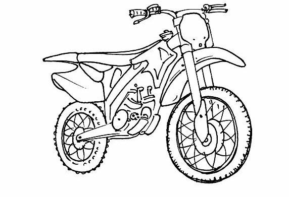 Coloriage Motocross À Colorier Dessin Gratuit À Imprimer serapportantà Coloriage Moto Cross A Imprimer Gratuit