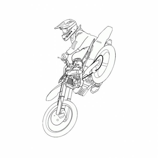 Coloriage Motocross Ktm Dans Les Airs Dessin Gratuit À encequiconcerne Moto Cross A Dessiner