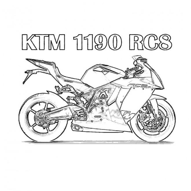 Coloriage Motocross Ktm Rc8 Dessin Gratuit À Imprimer concernant Coloriage Moto De Course A Imprimer Gratuit