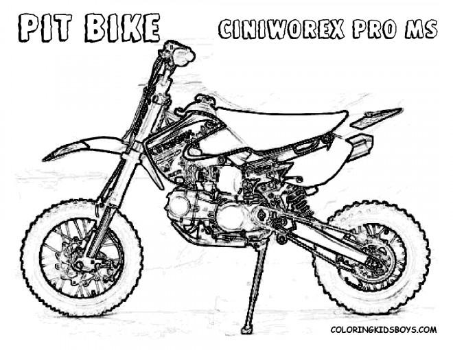 Coloriage Motocross Pit Bike Dessin Gratuit À Imprimer encequiconcerne Dessin De Moto Ktm