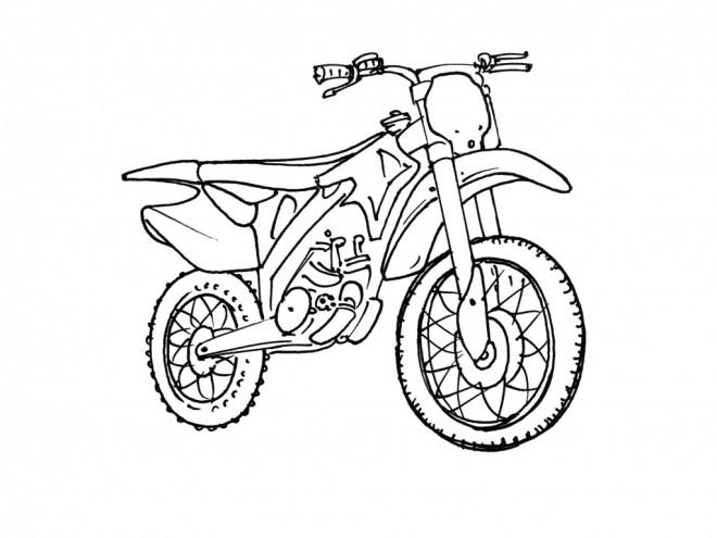 Coloriage Motocross Pour Sport Extrême Dessin Gratuit À intérieur Coloriage Moto Cross À Imprimer