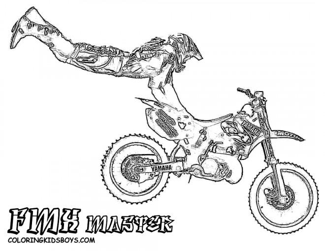 Coloriage Motocross Réaliste Dessin Gratuit À Imprimer serapportantà Moto Cross A Dessiner