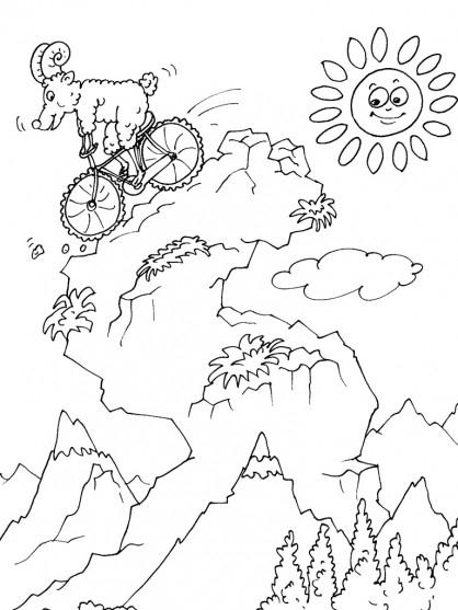 Coloriage Mouflon Sur Bicyclette Dessin Gratuit À Imprimer tout Dessin Mouflon