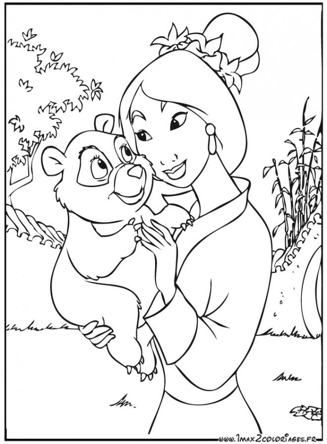 Coloriage Mulan 5 Gratuit À Imprimer En Ligne dedans Coloriage Mulan A Imprimer