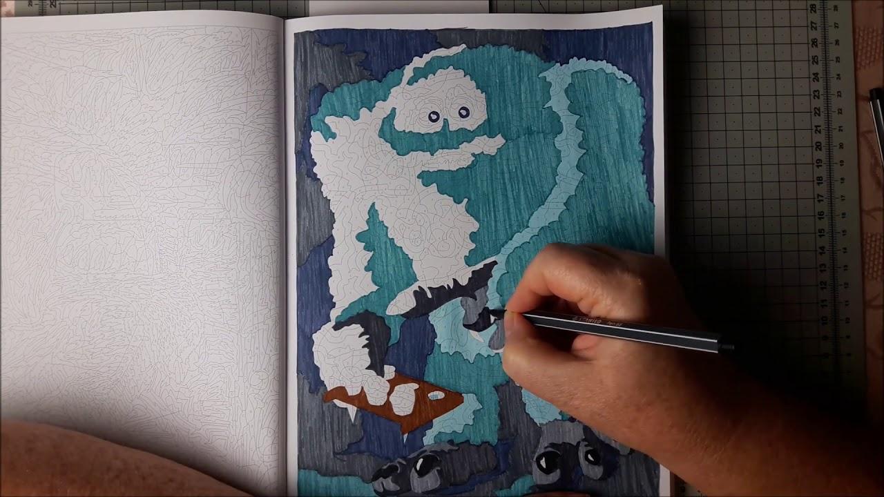 Coloriage Mystère Accéléré Disney 11, Speed Coloring - intérieur Feutre Coloriage Mystere