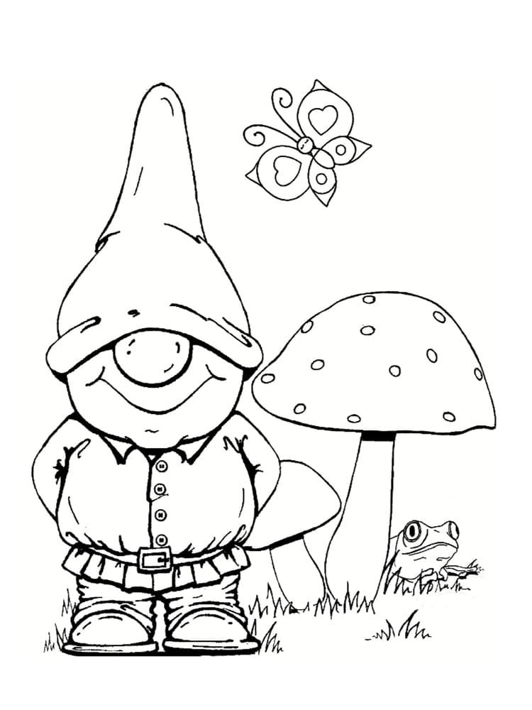 Coloriage Nain Et Gnome : Dessins À Imprimer concernant Dessins Acolorier