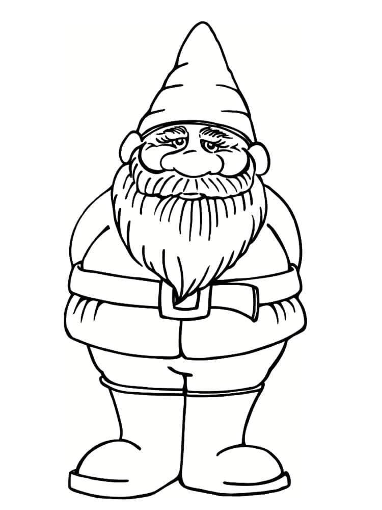 Coloriage Nain Et Gnome : Dessins À Imprimer serapportantà Coloriage Nain De Jardin