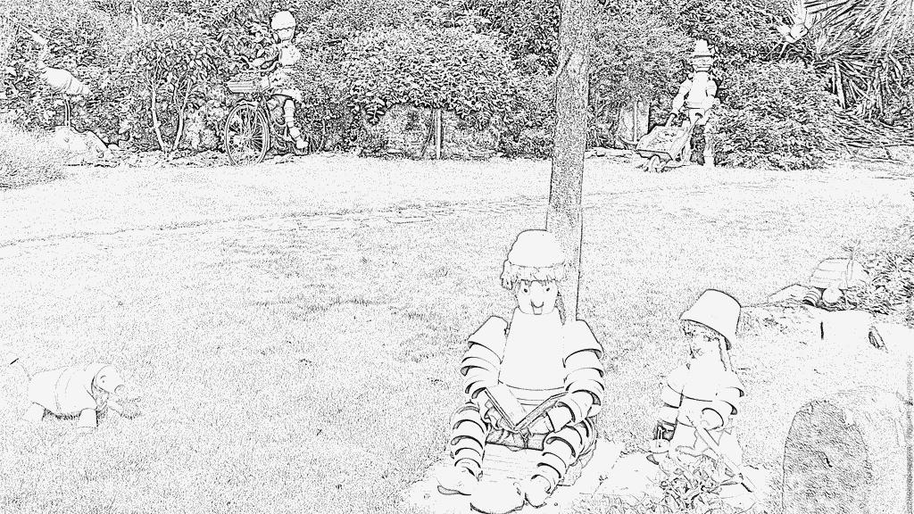 Coloriage Nains De Jardin À Imprimer Pour Les Enfants à Coloriage Nain De Jardin