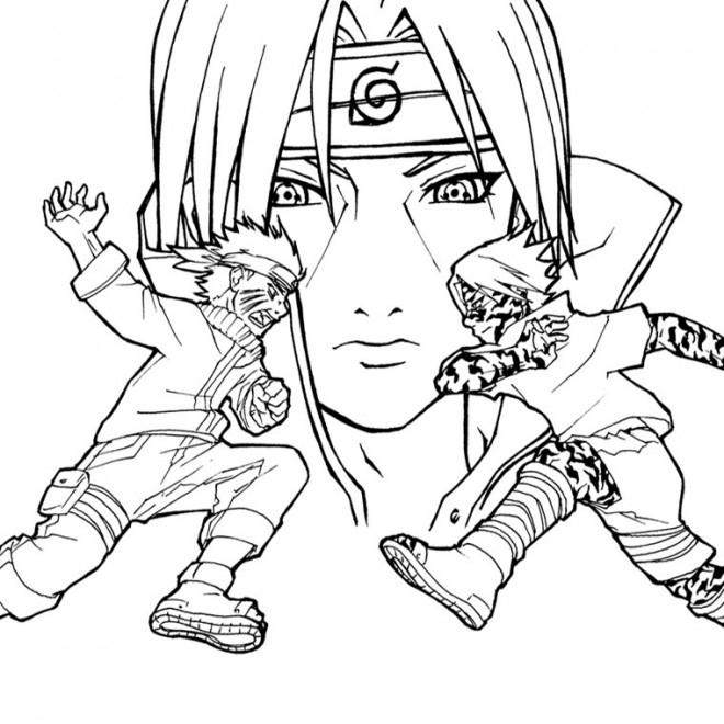 Coloriage Naruto Contre Sasuke Dessin Gratuit À Imprimer concernant Dessin A Imprimer De Naruto