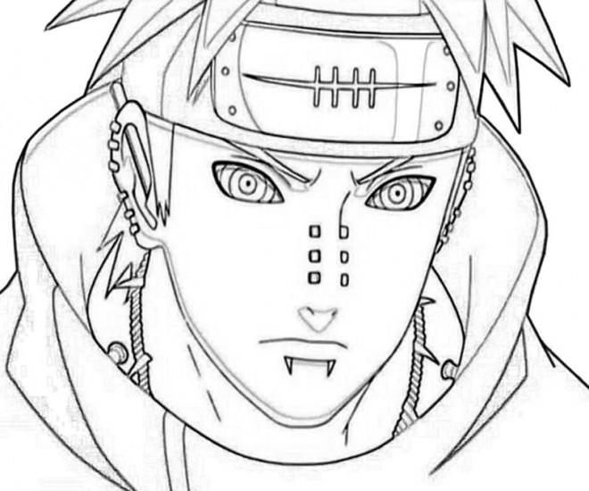 Coloriage Naruto Shippuden Pain Dessin Gratuit À Imprimer encequiconcerne Naruto Shipuden Coloriage