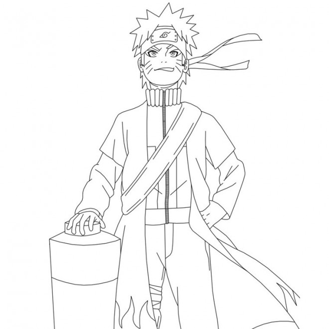 Coloriage Naruto Uzumaki Confiant Dessin Gratuit À Imprimer intérieur Coloriage Sasuke Gratuit A Imprimer